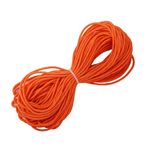3mm orange reflektierende Zelt Guy Linie Rope Camping Schnur Paracord 20M - 2