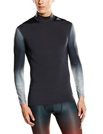 adidas Erwachsene Baselayer mit Kragen Techfit Long Sleeve W MOC, Lead, XXXL, D82114 - 1