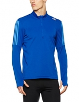 adidas Herren Response Zip Langarm Funktionsshirt, Collegiate Royal/Ray Blue, L -