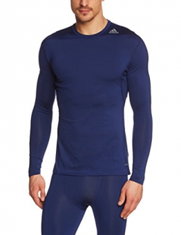 adidas Herren Shirt Techfit Base Long Sleeve Funktionsunterwäsch, Blau, XS, G90141 - 1