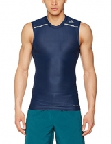 adidas Herren Techfit Chill Sleeveless Shirt, Collegiate Navy, M -