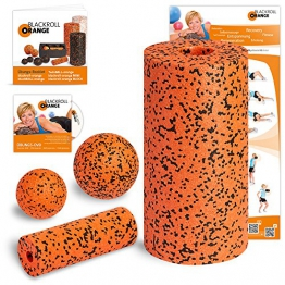 Blackroll Orange (Das Original) - Die Selbstmassagerolle - Starter-Set PRO inkl. Übungs-DVD, Übungsposter & Booklet - 1