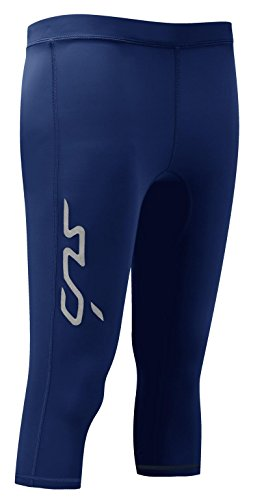 DUAL Damen Kompressionsleggings – 3/4-Funktionsunterhose - Dunkelblau - XL -