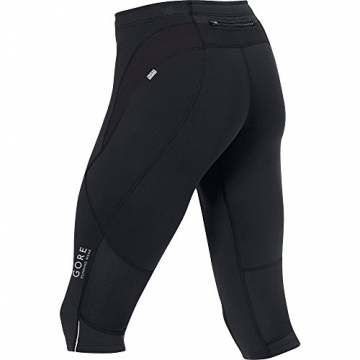 GORE RUNNING WEAR, Herren enganliegende 3/4-Laufhose, Essential Tights 3/4 , TESSNT990009, black, Gr. L - 3