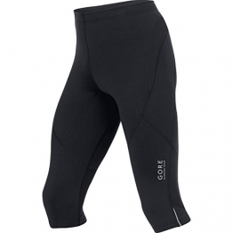 GORE RUNNING WEAR, Herren enganliegende 3/4-Laufhose, Essential Tights 3/4 , TESSNT990009, black, Gr. L - 1