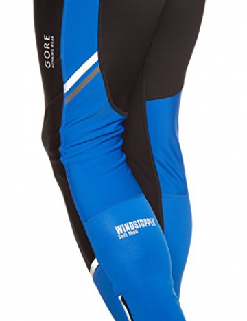 Gore Running Wear Herren Kompressionswäsche Hose mythos 2 windstopper Soft Shell Tights, Black/Brilliant Blue, S, TWSMYM996003 - 3