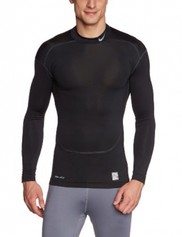 NIKE Herren Langarm Shirt Core Compression 2.0 Mock, Black/Cool Grey, XXL, 449795-010 - 1