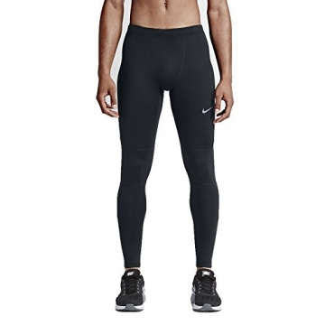 NIKE Herren Tights Dri Fit Essential, Mehrfarbig - Black/Black/Black/Reflective Silv, L -