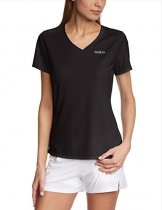 Odlo Damen T-Shirt Short Sleeve V-Neck Liv, Black, S, 221811 -