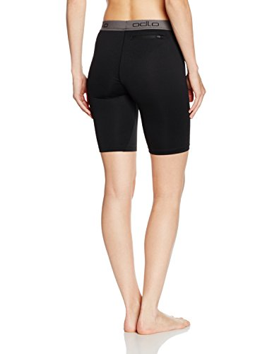 Odlo Damen Tights shorts SLIQ 2.0, black/silver, L, 349031 - 2