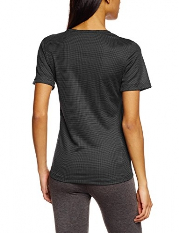 Odlo Damen Unterhemd Shirt Short Sleeve crew neck CUBIC, ebony grey/black, XL, 140481 -