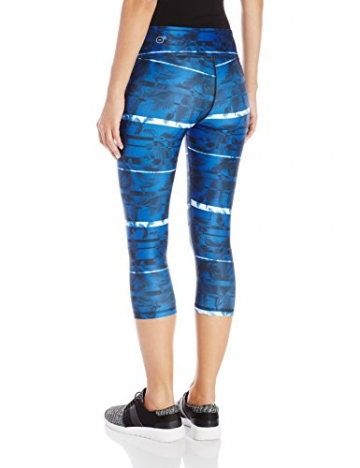 Puma Damen All Eyes On Me 3/4 Tight Hose, Black/True Blue/Feather Print, S -