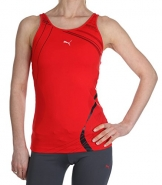 Puma Damen Sport-BH integriert Tank Top Red BNWT USP Aktive Virgin Active PUMA01_S -