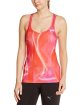 PUMA Damen Tank Top Gym Graphic, Fuchsia Purple-Allover, L, 512241 03 -