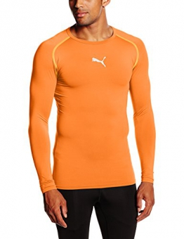 PUMA Herren T-shirt TB Long Sleeve Tee, team orange, L, 654612 08 - 1
