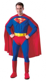 Rubies 3888016 - Superman Muscle Chest Adult, M, blau/rot - 1