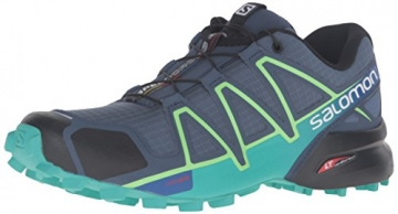 Salomon Damen Speedcross 4 W Traillaufschuhe, Blau (Slateblue/Spa Blue/Fresh Green), 39 1/3 EU -
