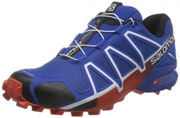 Salomon Herren Speedcross 4 Traillaufschuhe, Blau (Blue Yonder/Black/Lava Orange), 43 1/3 EU -