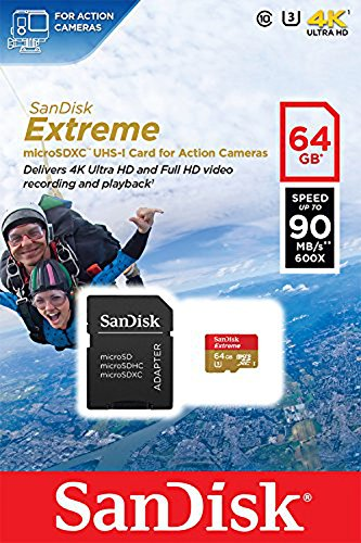 SanDisk Extreme 64GB Class 10 microSDXC for Action Sports Cameras Memory Card bis zu 90 MB/s - 5