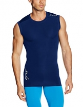 Sub Sports Men's Semi-Kompression, Wärme Stay Cool Sleeveless Base Layer Blau navy S -
