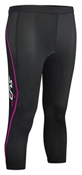 Sub Sports Women's Elite RX Graduated Compression Tights 3/4 schwarz Black/Pink S -