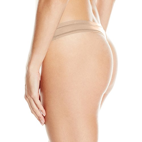 Under Armour Damen Sportswear Unterhose Pure Stretch Sheer Thong, Nude, L, 1276494 -