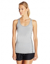 Under Armour Damen UA Stripe Racer Fitness-T-Shirts & Tanks, Black, M -