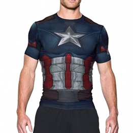 Under Armour HeatGear Captain America Suit Trainingsshirt Herren LG (Large) - 1