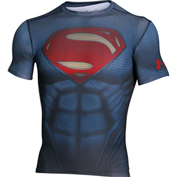 Under Armour HeatGear Superman Suit Trainingsshirt Herren MD (Medium) - 1