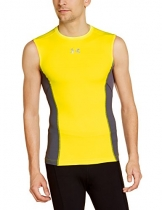 Under Armour Herren Fitness - T-Shirt Armourstretch HG Sleeveless T, High Vis Yellow, L, 1257481 -