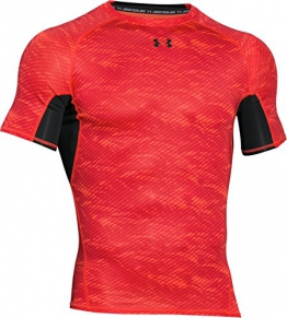Under Armour Herren Kompressionsshirt HeatGear mit Aufdruck, Rocket Red, XL, 1257477 - 1
