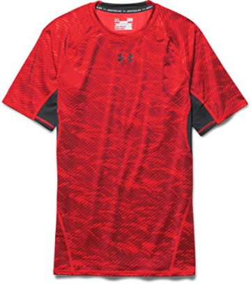 Under Armour Herren Kompressionsshirt HeatGear mit Aufdruck, Rocket Red, XL, 1257477 - 4