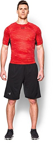 Under Armour Herren Kompressionsshirt HeatGear mit Aufdruck, Rocket Red, XL, 1257477 - 5