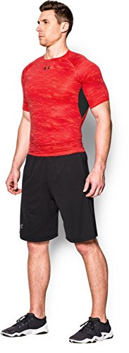 Under Armour Herren Kompressionsshirt HeatGear mit Aufdruck, Rocket Red, XL, 1257477 - 7