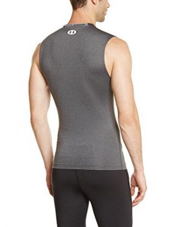 Under Armour Herren Top HG Sonic Compression Sleeveless, Carbon Heather/White, M-090 -