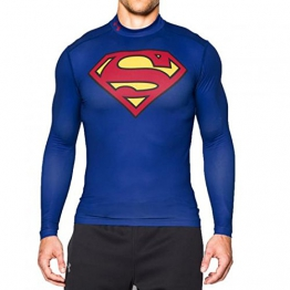Under Armour Herren Trainingsshirt Cold Gear Superman Alter Ego, blau/rot /gelb, L, 1268307-400G - 1